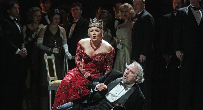 Die Operndiva Anna Netrebko gibt an der New Yorker Met die Lady Macbeth. Foto: Getty Images/Fotobank