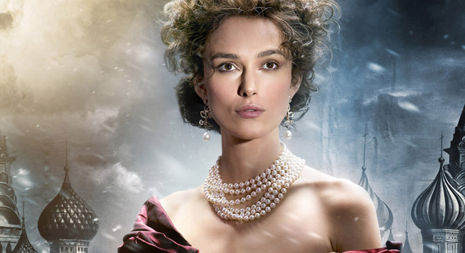Keira Knightly spielte Anna Karenina in der Verfilmung von Tolstois Roman und zierte später auch das Buch-Cover. Foto: Kinopoisk