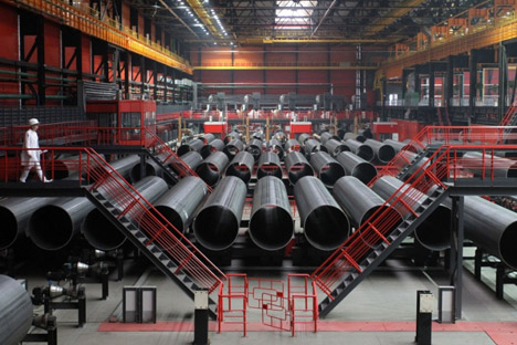 """Die deutsche SMS Meer baute Russlands modernste Röhrenfabrik """"Höhe 239"""". Foto: Pressebild"""