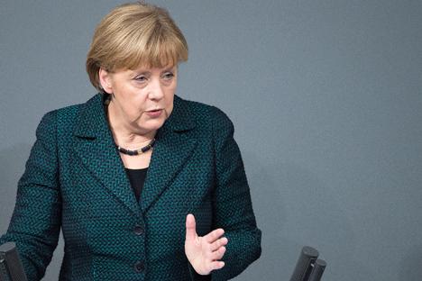"""Merkel: """"Devemos esclarecer todas as questões jurídicas relacionadas com o projeto South Stream"""" Foto: DPA/Vostock-Photo"""