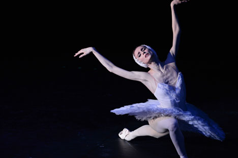 Swetlana Sacharowa auf der Bolschoi-Bühne. Foto: Alexander Krjaschew/RIA Novosti