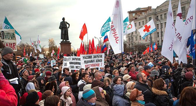 """""""Stoppt den Zusammenbruch der Medizin in Moskau!"""", lautete das Motto der Demonstranten. Foto: PhotoXPress"""