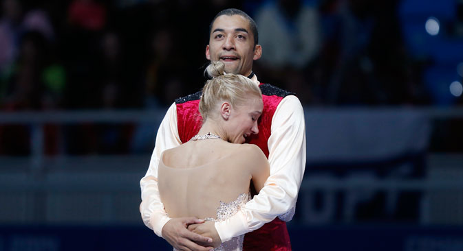 Nach den Olympischen Spielen fasste Aljona Sawtschenko den Entschluss, noch einmal um olympisches Gold zu kämpfen. Robin hingegen glaubte nicht mehr an eine Goldmedaille bei den nächsten Spielen. Foto: Reuters