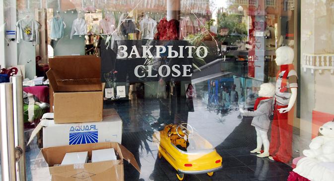 Russische Ladenpächter leiden von bis zu 40 Prozent Mehrkosten. Foto: Vicktor Kolushkin / TASS
