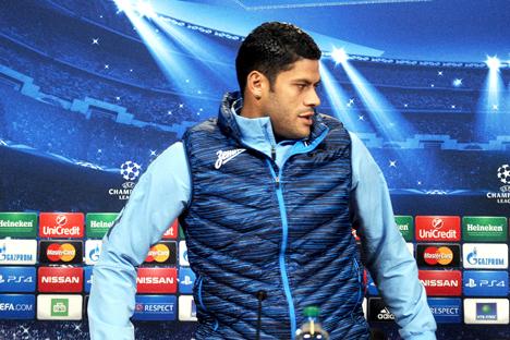 Der brasilianische Stürmer Hulk von Zenit Sankt Petersburg verdient  laut inoffiziellen Angaben sieben Millionen Euro pro Jahr. Der AFP / East News