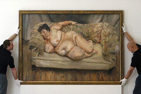 """Roman Abramowitsch ersteigerte """"Schlafende Sozialarbeiterin"""" von Lucian Freud  für 33,6 Millionen US-Dollar (21,7 Millionen Euro). Foto: AP"""