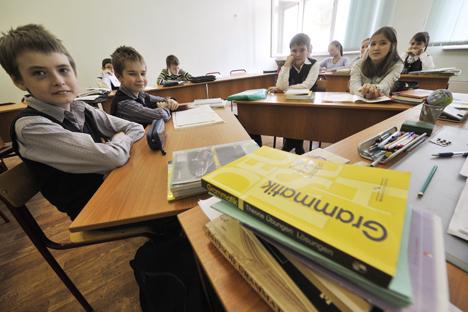 Als wichtigste Sprache gilt laut Umfrageergebnissen Englisch (92 Prozent), gefolgt von Deutsch (17 Prozent), Chinesisch (15 Prozent) und Französisch (zehn Prozent). Foto: Alexey Kudenko / RIA Novosti