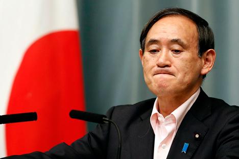 Japans Chefkabinettssekretär Yoshihide Suga. Foto: Reuters