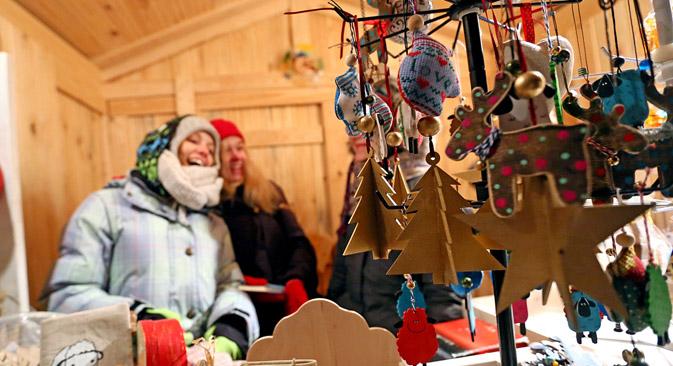 Der deutsche Weihnachtsmarkt in Jekaterinburg bringt Europa zusammen. Foto: Tatjana Andreewa/Rossijskaja Gaseta
