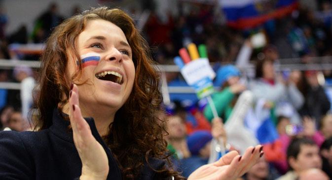 Laut einer Meinungsumfrage sind drei Viertel der Russen glücklich.  Foto: Alexej Malgawko/RIA Novosti