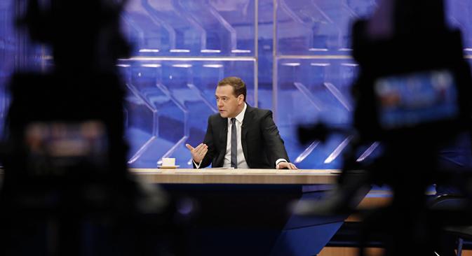 Dmitrij Medwedjew glaubt an eine Diversifikation der russischen Wirtschaft. Foto: Reuters
