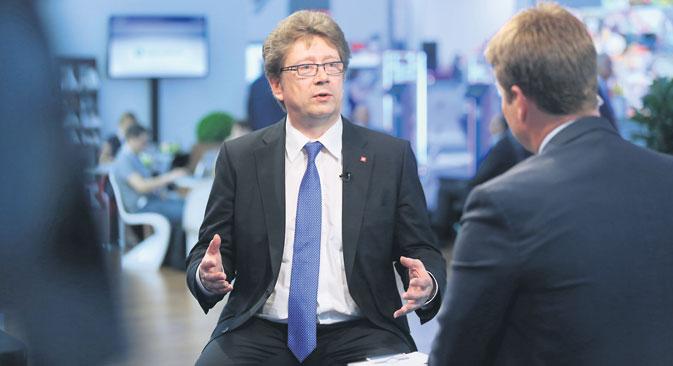"""Alexander Afanasjew: """"Für uns war die Deutsche Börse eines der Vorbilder bei der Prozessorganisation und beim Aufbau der Infrastruktur."""" Foto: Getty Images / Fotobank"""