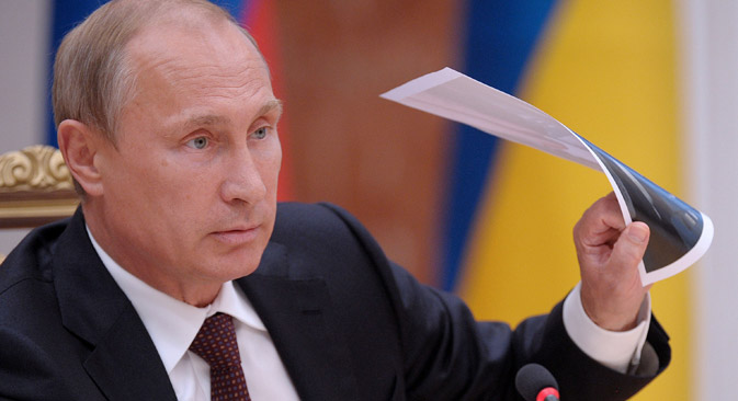 Experten halten Putins Aussagen für eine gezielte Provokation. Foto: TASS