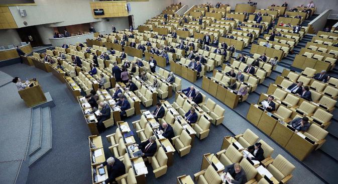 """Eine Duma-Initiative will schärfere Kontrollen für die """"Sicherheit des Landes"""". Foto: Sergej Fedeitschew/TASS"""