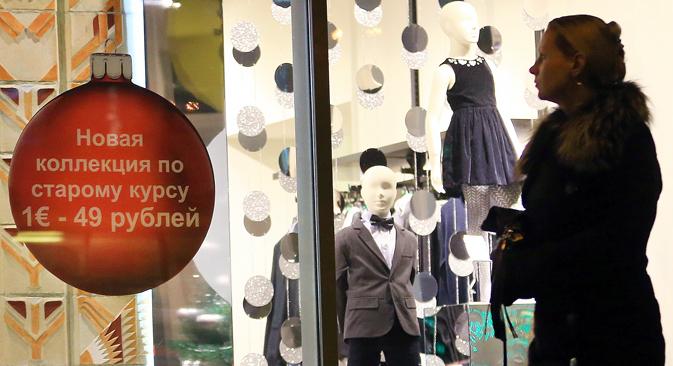Die Währungskrise animiert russische Händler zu kreativen Aktionen. Foto: Dmitrij Rogulin/TASS