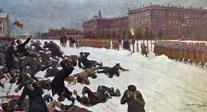 Revolutionäre Unruhen erschütterten ab 1905 das Russische Reich. Foto aus den freien Quellen