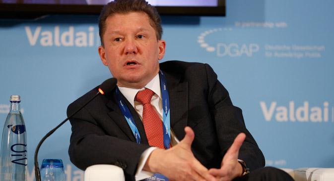 """Gazprom-Chef Alexej Miller: """"Gazprom ist dabei, von einer europäischen zur eurasischen Strategie überzugehen"""". Foto: Pressebild"""