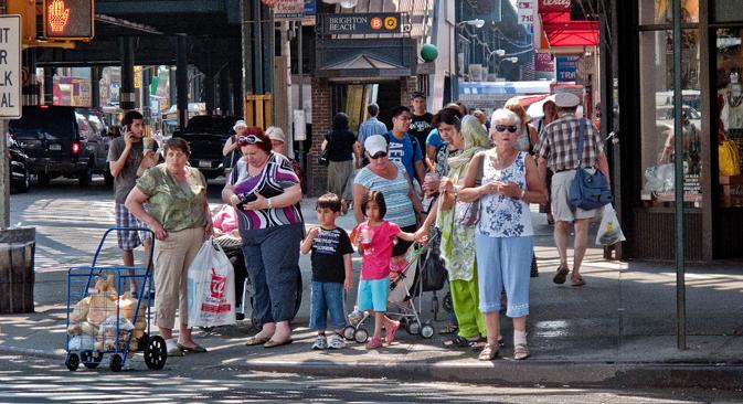 Russland will mehr Kontakt zu russischen Gemeinden im Ausland.  Auf dem Bild: Der New Yorker Bezirk Brighton Beach, wo viele Exilrussen leben. Foto: Alamy/Legion Media