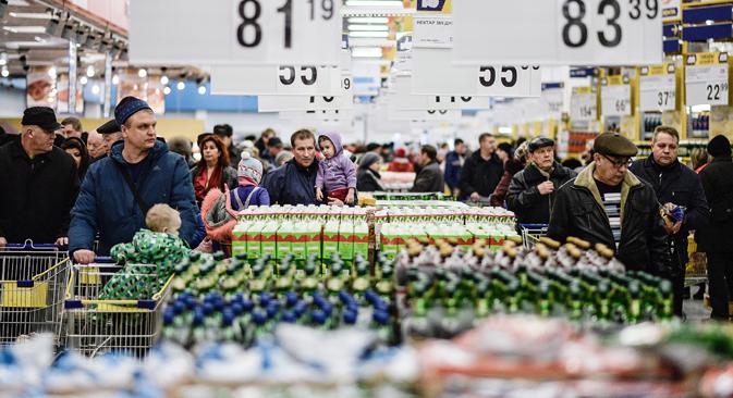 Mehr Konkurrenz soll das Lebensmittelgeschäft beleben. Foto: Konstantin Tschalabow/RIA Novosti