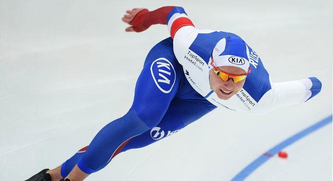 Eisschnellläufer Pawel Kulischnikow ist in dieser Saison unaufhaltsam. Foto: Grigorij Sysojew/RIA Novosti