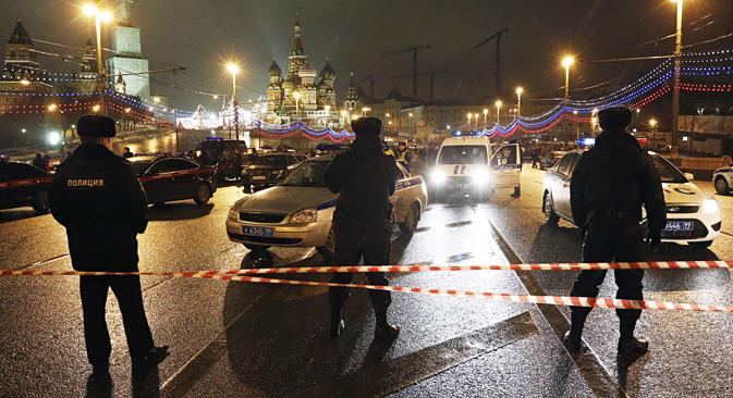 Die Ermittler glauben, dass Nationalisten hinter der Ermordung von Boris Nemzow stecken. Foto:  Michail Dschaparidse/TASS