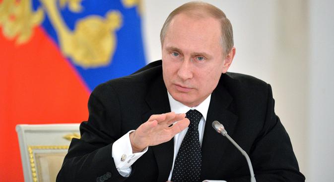 """""""Dreiste Verleumdung einer ganzen Generation"""": Putin sieht das Andenken sowjetischer Kriegsopfer in Gefahr.Foto: Alexej Druschinin/TASS"""
