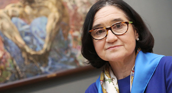 """Selfira Tregulowa, Direktorin der Tretjakow-Galerie: """"Wir wollen die international Zusammenarbeit verstärken"""" Foto: Oleg Grizaenko /cult.mos.ru"""