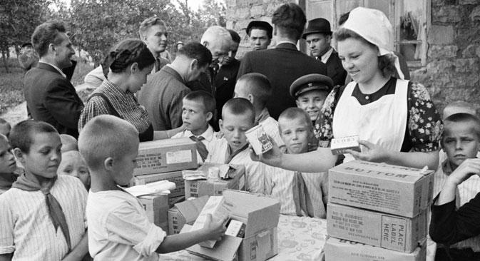 Die Alliierten leisteten der UdSSR im Zweiten Weltkrieg Schützenhilfe. Foto: Anatoli Granin/RIA Novosti