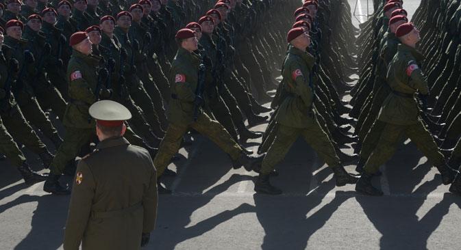 Russland liegt weltweit auf Platz drei bei den Militärausgaben.  Foto: Grigori Sysojew/RIA Novosti