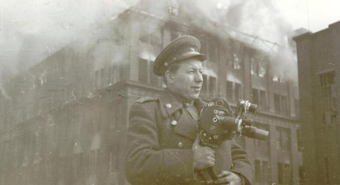 Kameramann Boris Sokolow in Berlin. Foto aus dem persönlichen Archiv.