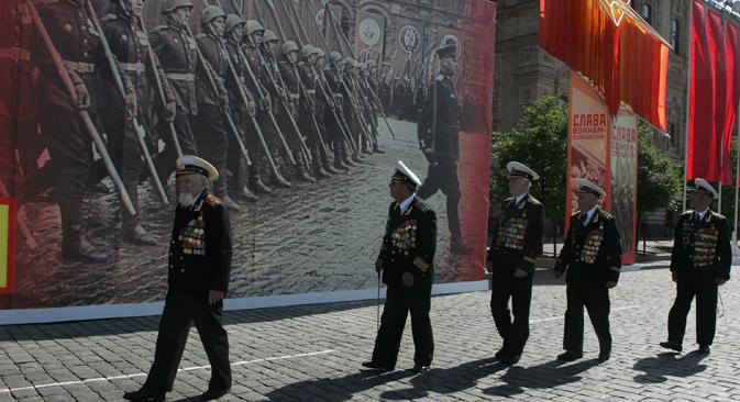 Veteranen blicken am Tag des Sieges, 9. Mai, zurück auf die Vergangenheit. Bild: Konstantin Zavrazhin/Rossijskaja Gaseta