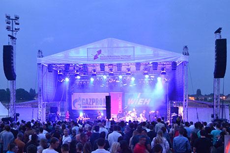 """""""Smyslovye Gallyutsinatsii"""" aus Ekaterinburg begeisterten das Publikum am Samstagabend.  Foto: DRF e.V./ Johannes Koschorreck"""