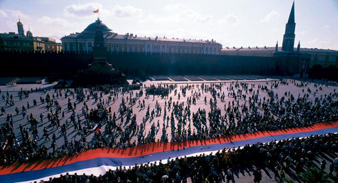 Die Souveränitätserklärung definierte somit die politischen Grundzüge des postsowjetischen Russlands. Foto: Corbis/East News