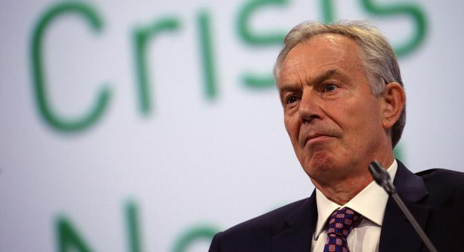 """Großbritanniens Ex-Premierminister Tony Blair: """"Die Umsetzung von Verwaltungsreformen müsse besser kontrolliert werden."""" Foto: Sergej Sawostjanow/TASS"""