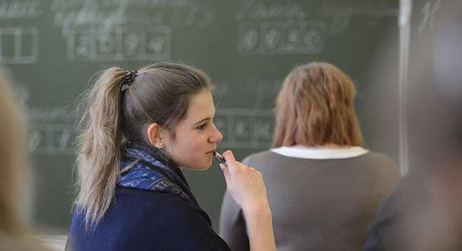 Die Russen sehen das Zentralabitur noch immer kritisch. Foto: RIA Novosti
