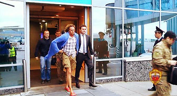 Kambodscha hat Sergej Polonski (Mitte) am 15. Mai an Russland ausgeliefert. Foto: RIA Novosti
