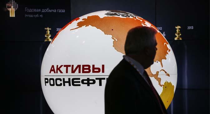 Trotz Sanktionen könnte sich der britische Energieriese BP in ein Rosneft-Projekt einkaufen. Foto: Sergej Sawostjanow/TASS