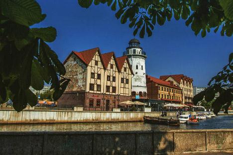 """Das Handelszentrum """"Fischdorf"""" in Kaliningrad"""