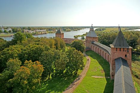 Der Kremlmauer von Nowgorod