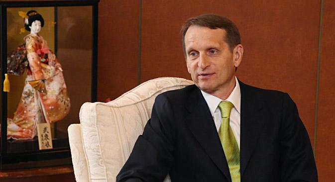 Russian State Duma Chairman Sergei Naryshkin.
