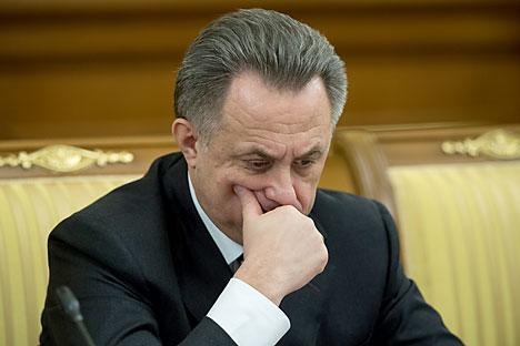 """Russlands Sportminister Witali Mutko: """"Wir haben all diese Jahre nach allgemeinen Regeln gespielt""""."""