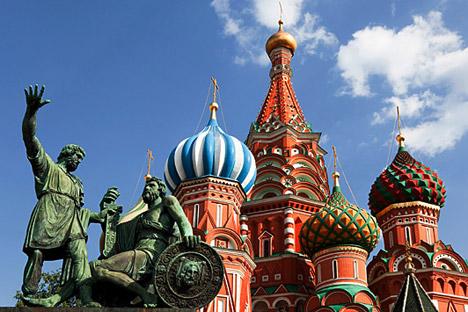 Die Basilius-Kathedrale am Roten Platz.