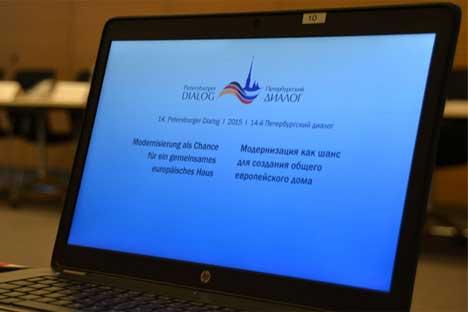 Die Arbeitsgruppen tagten ununterbrochen – wie auch im vergangenen Jahr, als derPetersburger Dialog erstmals ausgesetzt wurde.
