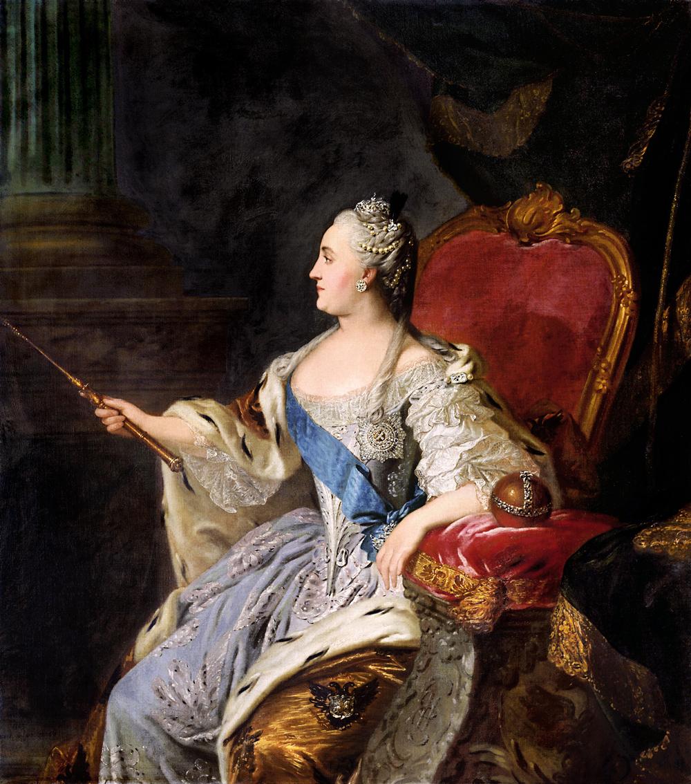 Katharina II. portraitiert von Fyodor Rokotov
