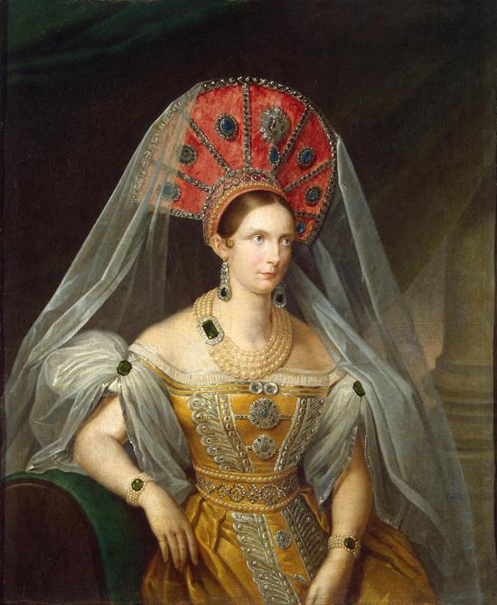 A. Maljukow. Porträt von Alexandra Fedorowna.