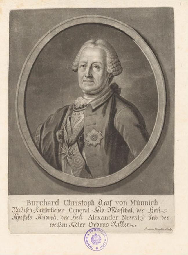 Feldmarschall Burchard Christoph Graf von Münnich