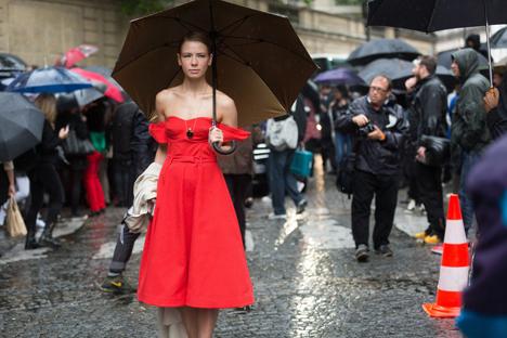 Die junge Modedesignerin aus Russland Viktoria Gasinskaja.
