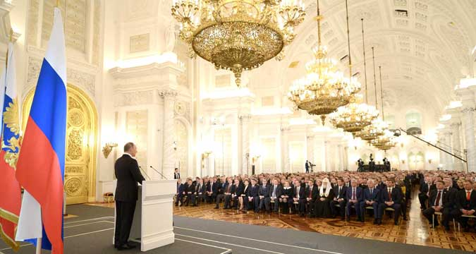 Der russische Präsident erklärt dem Terrorismus erneut den Kampf.