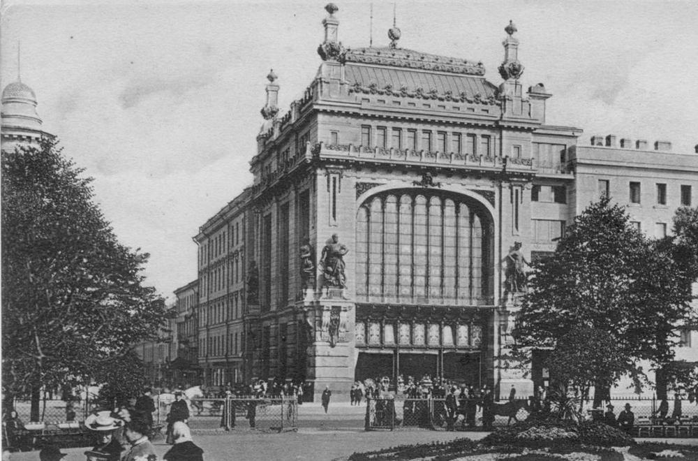 Das umstrittene Jelissejew-Gebäude in Sankt Petersburg. Foto: Pressebild