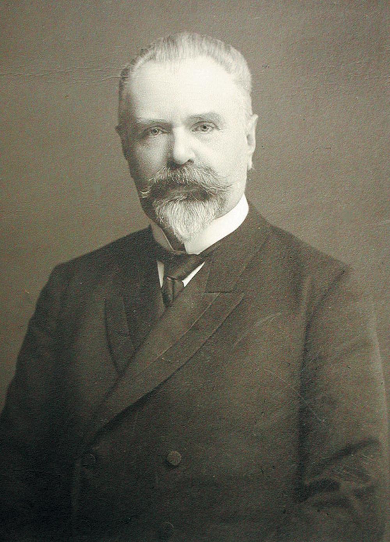Porträt von Boris Stürmer, abgebildet 1917 im Nowgoroder Gebiet.